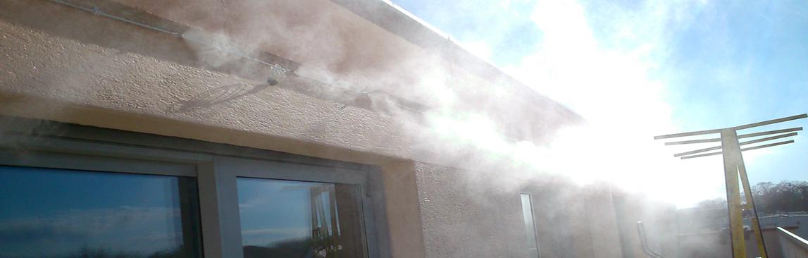 Système de brumisation pour terrasse de particulier