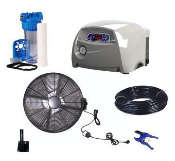 Kits coffrets ventilateurs brumisateur